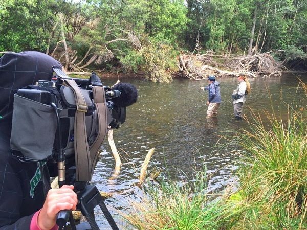 All the action was caught for an upcoming Fishing Australia TV program