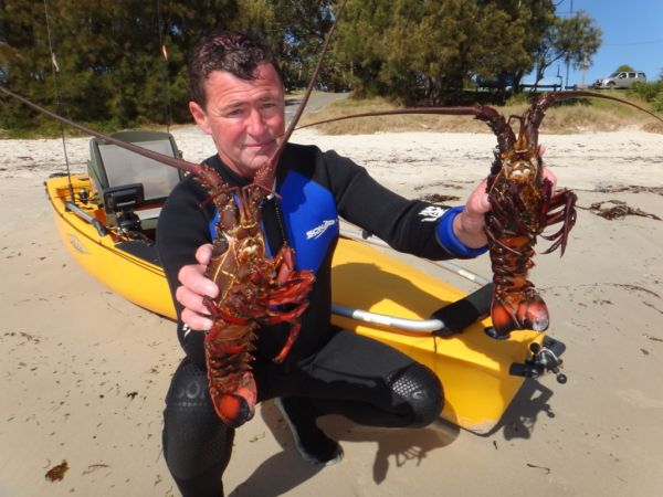 Danny Turner with some nice Jervis Bay Crays
