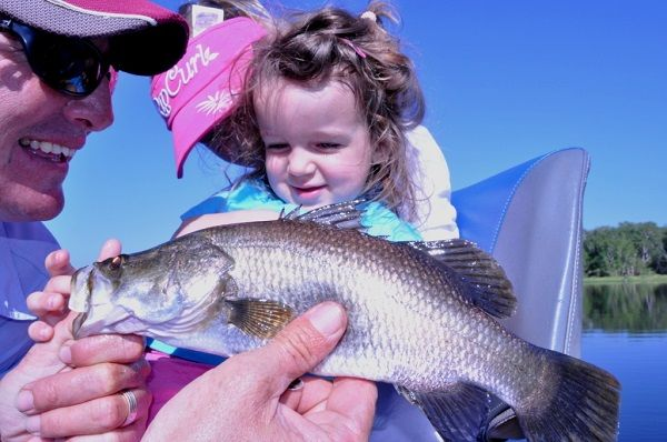 Guides love putting visitors onto barra, and even the small ones are family fun