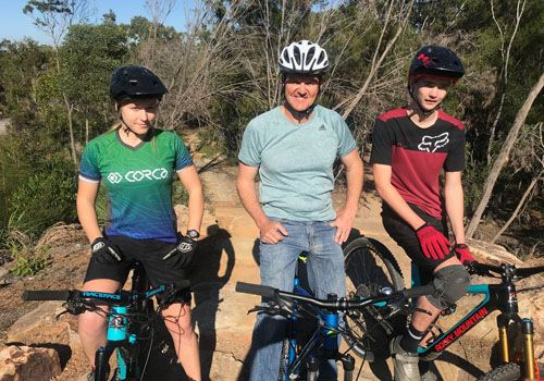 We do some mountain biking at the big new Caloundra track.