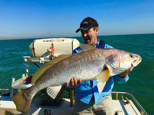The reef fishing is spectacular - this is the standard sized mulloway