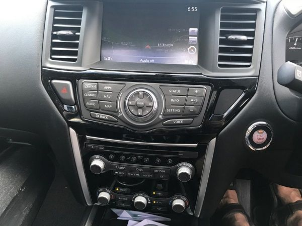 The interior has loads of modern tech features