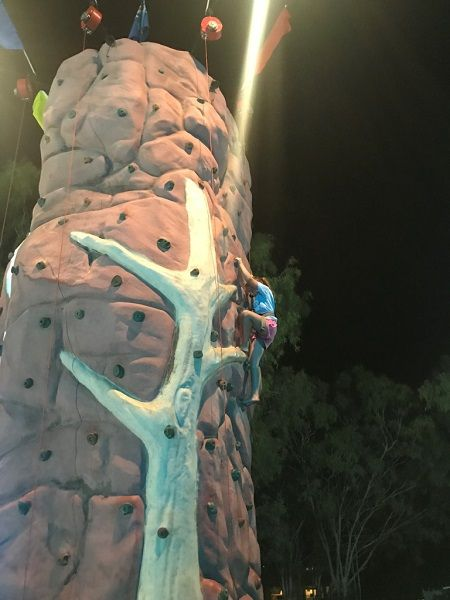 Event includes rock climbing