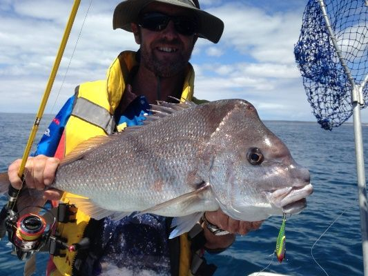 Guest Peter Berryman found the snapper fishing exceptional even by WA standards