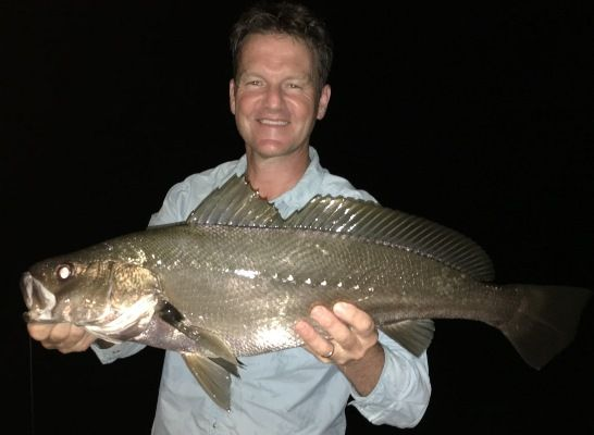 Jewfish are the target and the first one comes knocking on que in the wee hours of the morning
